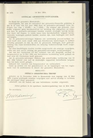 Raadsnotulen Heemstede 1954-05-14