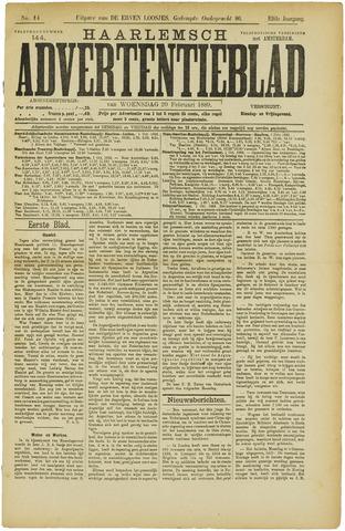 Haarlemsch Advertentieblad 1889-02-20
