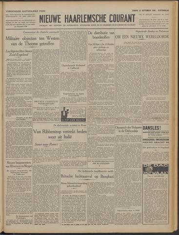Nieuwe Haarlemsche Courant 1940-09-22