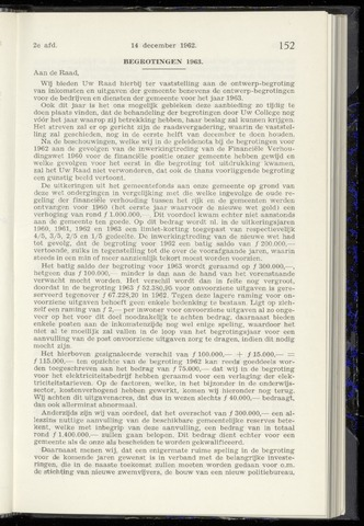 Raadsnotulen Heemstede 1962-12-14