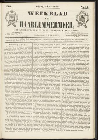 Weekblad van Haarlemmermeer 1860-11-23