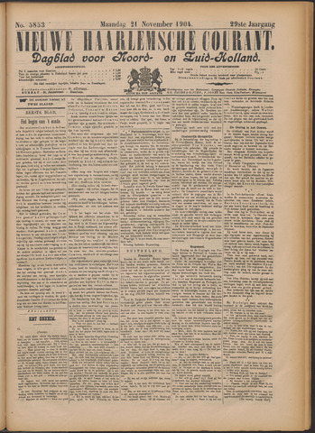 Nieuwe Haarlemsche Courant 1904-11-21
