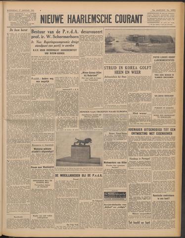 Nieuwe Haarlemsche Courant 1951-01-17