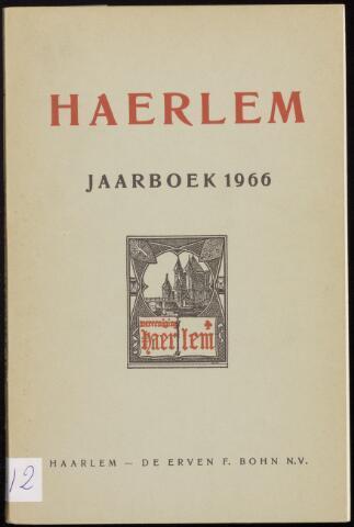 Jaarverslagen en Jaarboeken Vereniging Haerlem 1966