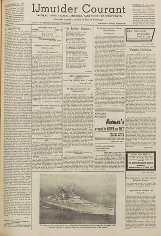 IJmuider Courant 1939-04-22