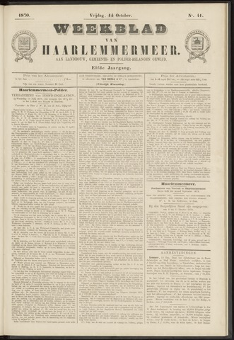 Weekblad van Haarlemmermeer 1870-10-14