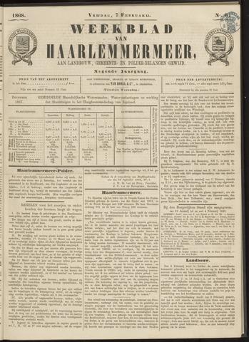 Weekblad van Haarlemmermeer 1868-02-07