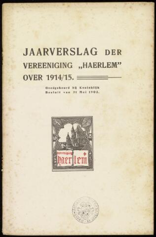 Jaarverslagen en Jaarboeken Vereniging Haerlem 1914