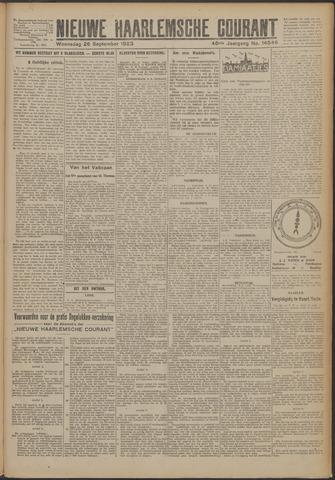 Nieuwe Haarlemsche Courant 1923-09-26
