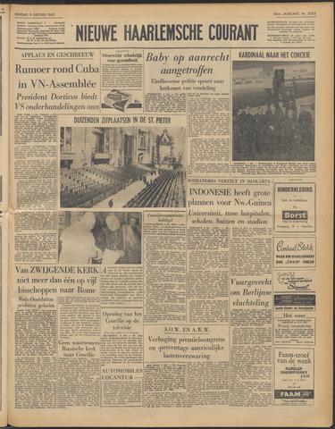 Nieuwe Haarlemsche Courant 1962-10-09
