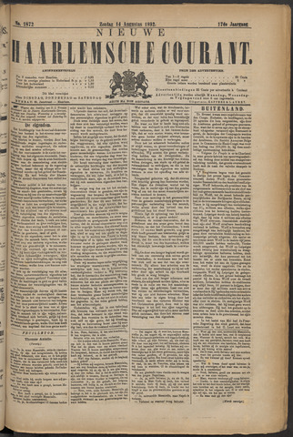 Nieuwe Haarlemsche Courant 1892-08-14