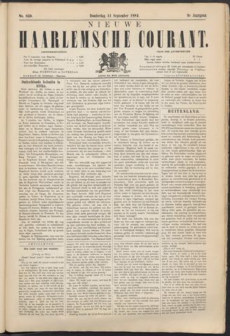 Nieuwe Haarlemsche Courant 1884-09-11