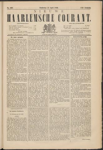 Nieuwe Haarlemsche Courant 1886-04-22