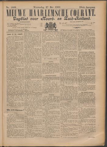 Nieuwe Haarlemsche Courant 1903-05-27