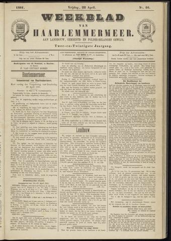 Weekblad van Haarlemmermeer 1881-04-22