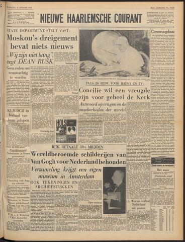 Nieuwe Haarlemsche Courant 1962-09-12