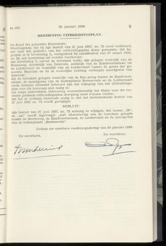 Raadsnotulen Heemstede 1958-01-30