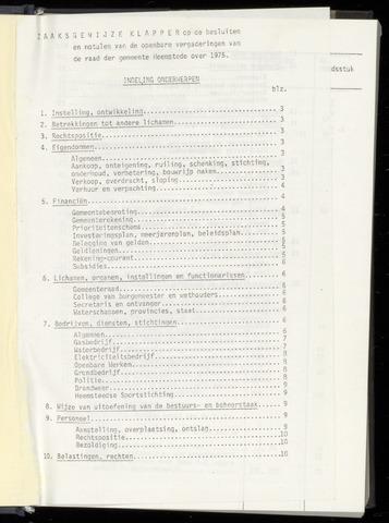 Raadsnotulen Heemstede 1975-01-01