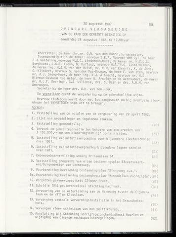 Raadsnotulen Heemstede 1982-08-26