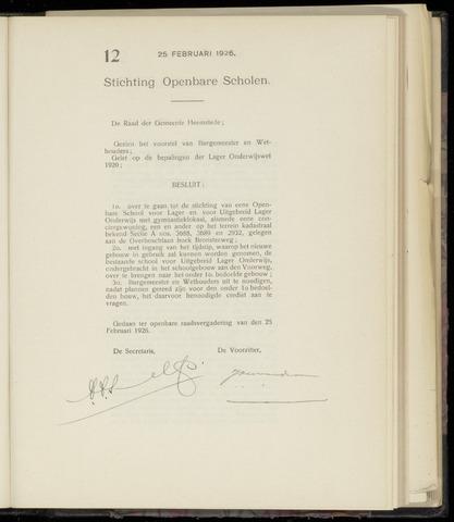 Raadsnotulen Heemstede 1926-02-25