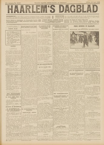 Haarlem's Dagblad 1926-04-30