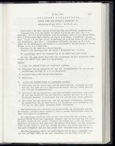 Raadsnotulen Heemstede 1977-05-12