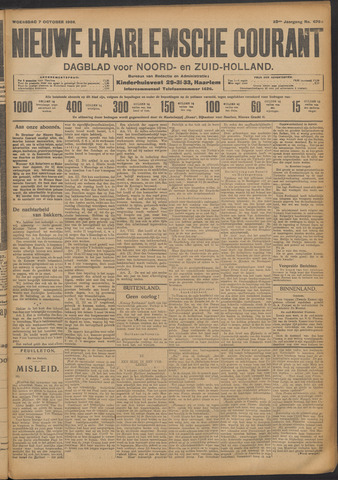 Nieuwe Haarlemsche Courant 1908-10-07