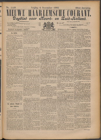 Nieuwe Haarlemsche Courant 1903-11-06