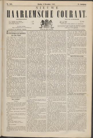Nieuwe Haarlemsche Courant 1882-12-03