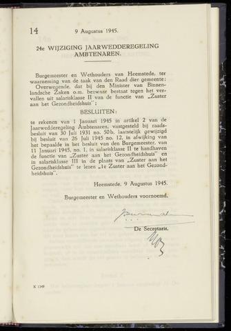 Raadsnotulen Heemstede 1945-08-09