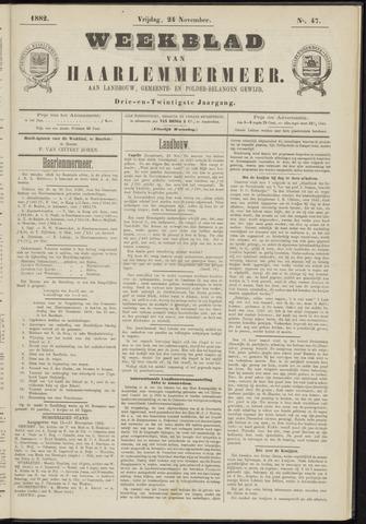 Weekblad van Haarlemmermeer 1882-11-24