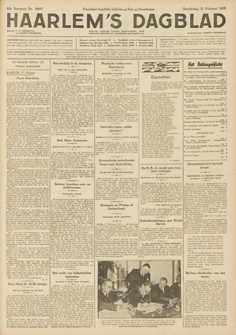 Haarlem's Dagblad 1935-02-21