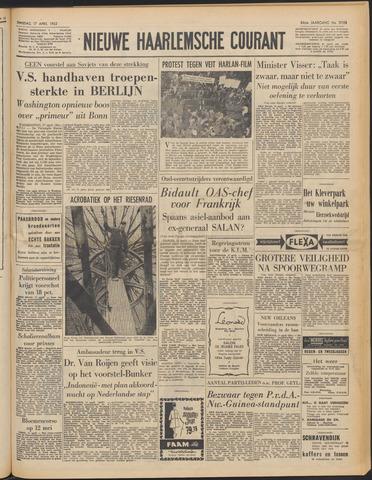 Nieuwe Haarlemsche Courant 1962-04-17