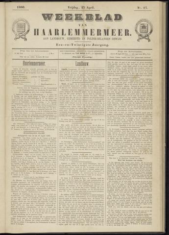 Weekblad van Haarlemmermeer 1880-04-23
