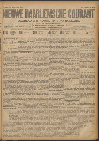 Nieuwe Haarlemsche Courant 1908-11-14