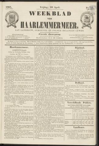 Weekblad van Haarlemmermeer 1863-04-10