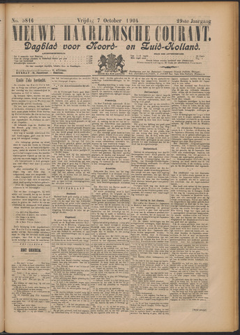 Nieuwe Haarlemsche Courant 1904-10-07