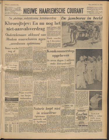 Nieuwe Haarlemsche Courant 1963-08-06
