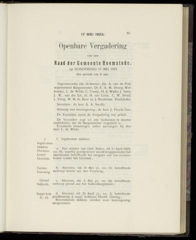 Raadsnotulen Heemstede 1923-05-17