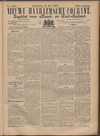 Nieuwe Haarlemsche Courant 1903-05-28