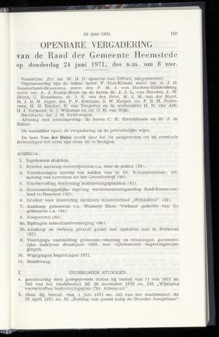 Raadsnotulen Heemstede 1971-06-24