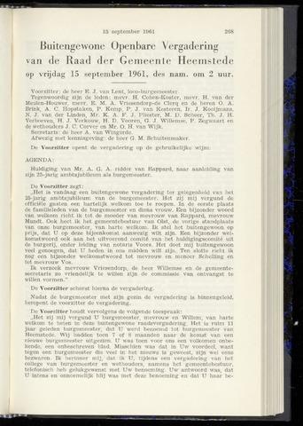 Raadsnotulen Heemstede 1961-09-15