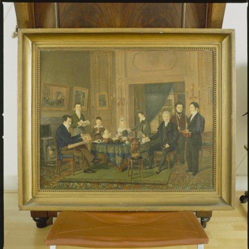 Schilderij van de familie ritsema in de suite circa 1825 door c j morel bekijken utrecht - Schilderij ingang en gang ...