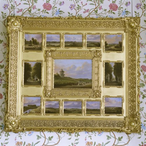 Interieur schilderij hangt in de kamer van hare majesteit en zijne koninklijke hoogheid - Schilderij in de kamer ...