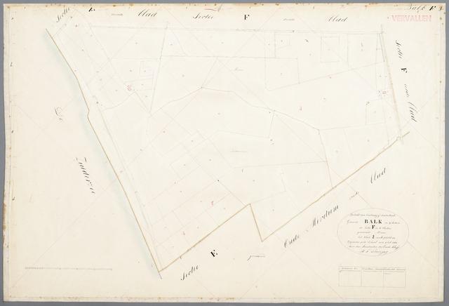 Kadastrale Kaart 1811 1832 Minuutplan Balk Friesland Sectie F