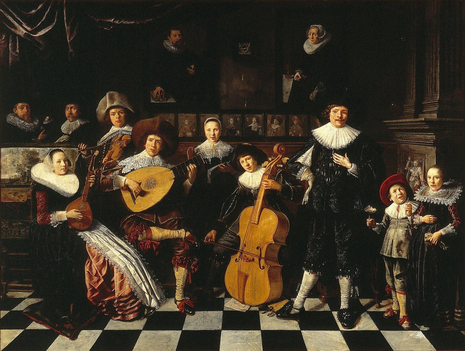 Zelfportret van Jan Miense Molenaer met zijn familie