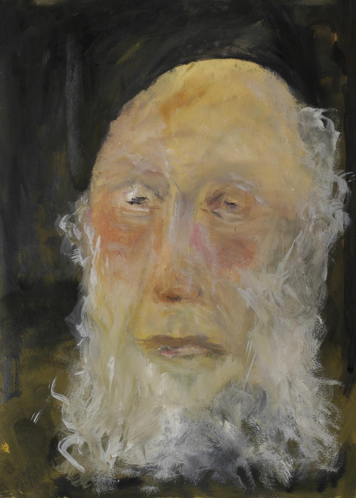 Oude man met baard