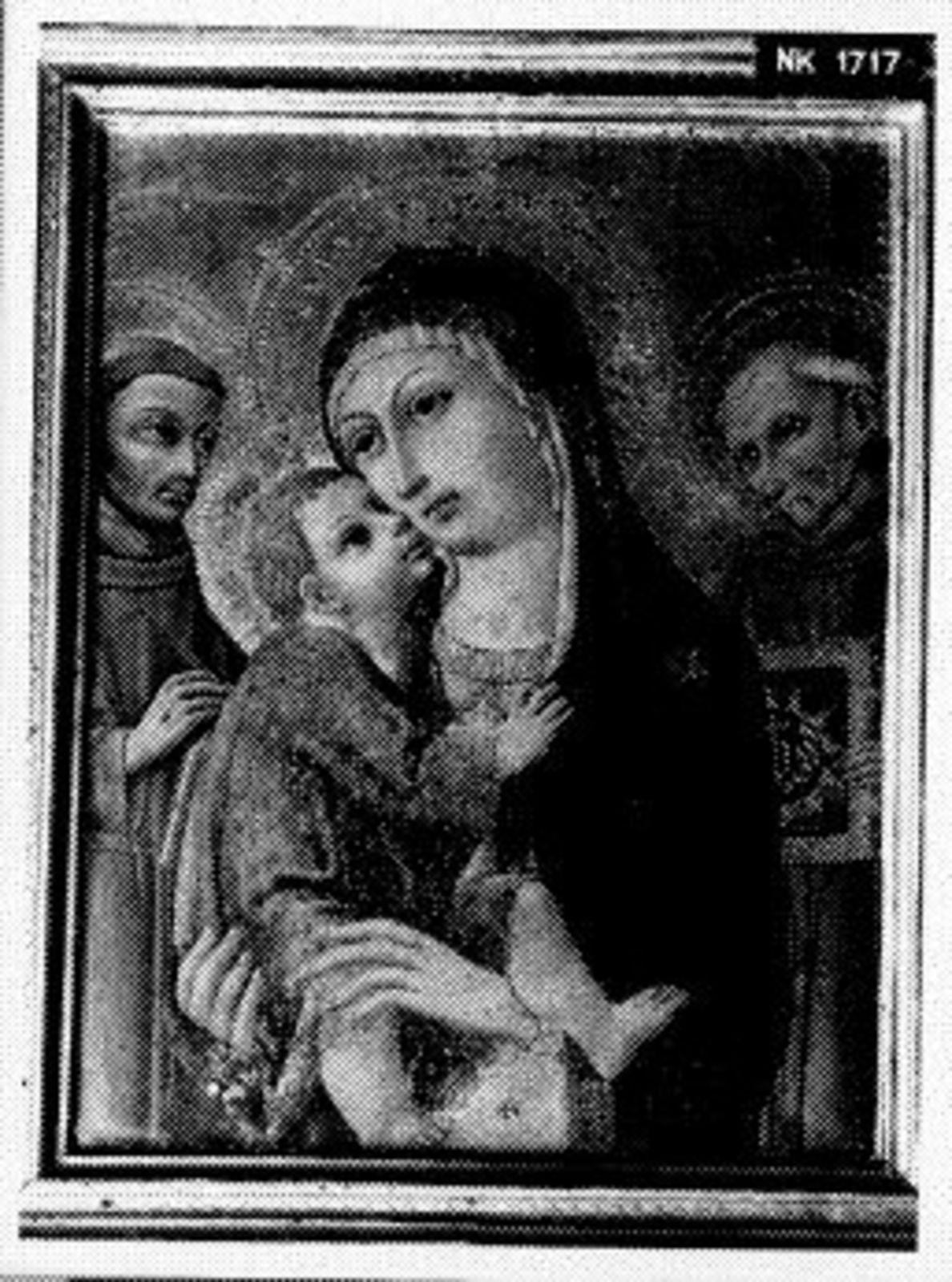 Madonna en kind met Sint Franciscus van Assisi en Sint Berna