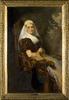 """Portret van Gesina """"Geesje"""" Mesdag-van Calcar (1850-1936)"""