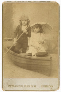 Portret van Willem Frederik Gobius (1881-...) en Françoise Frederique Gobius (1880-...)